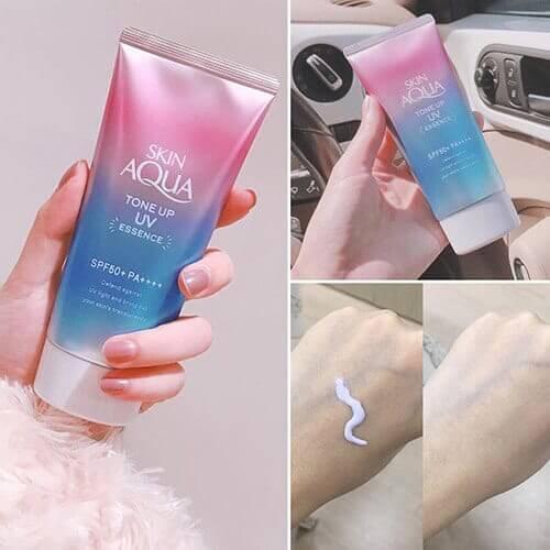 Chi tiết về kem chống nắng Nhật Bản Skin Aqua Tone Up -   - Kem ch   ng n   ng skin aqua tone up bichkhoa