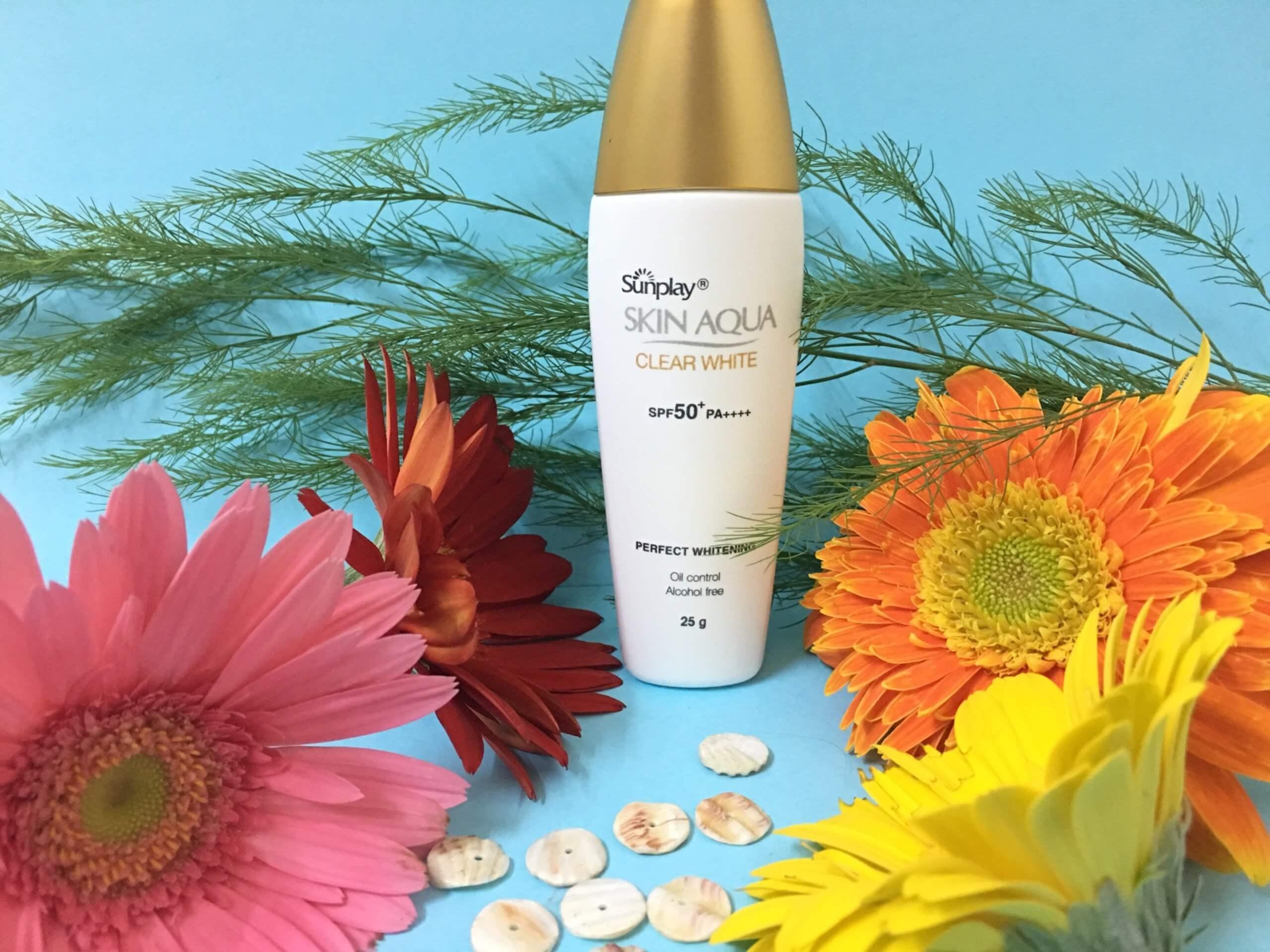 Kem chống nắng Sunplay Skin Aqua Clear White