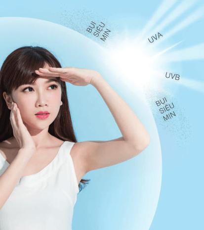 Thoa kem chống nắng sẽ giúp ngăn ngừa các tác nhân gây hại cho da