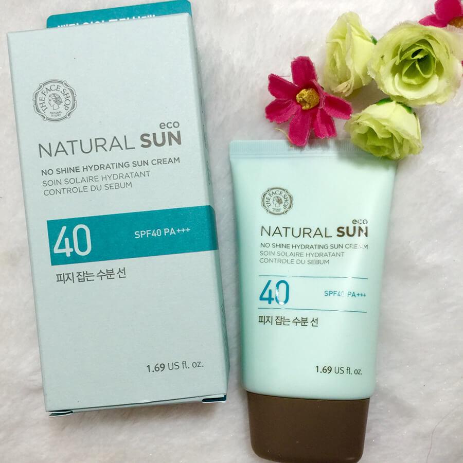 Kem chống nắng The Face Shop Natural Sun Eco No Shine