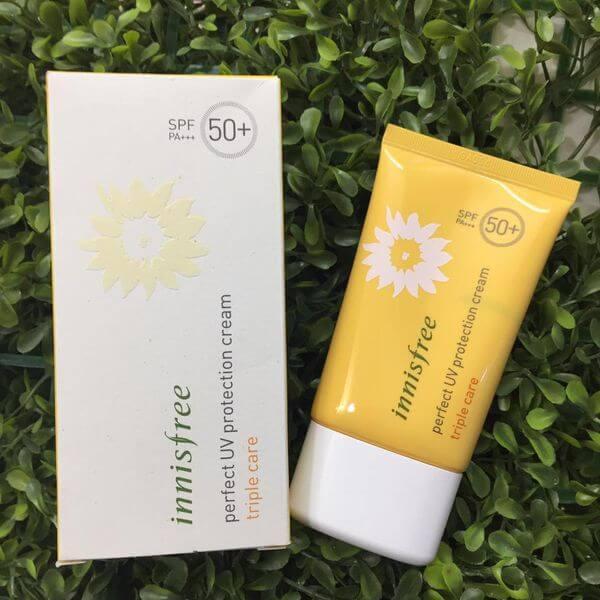 Kem chống nắng Hàn Quốc tốt nhất hiện nay Innisfree Perfect UV Protection Cream Triple Care