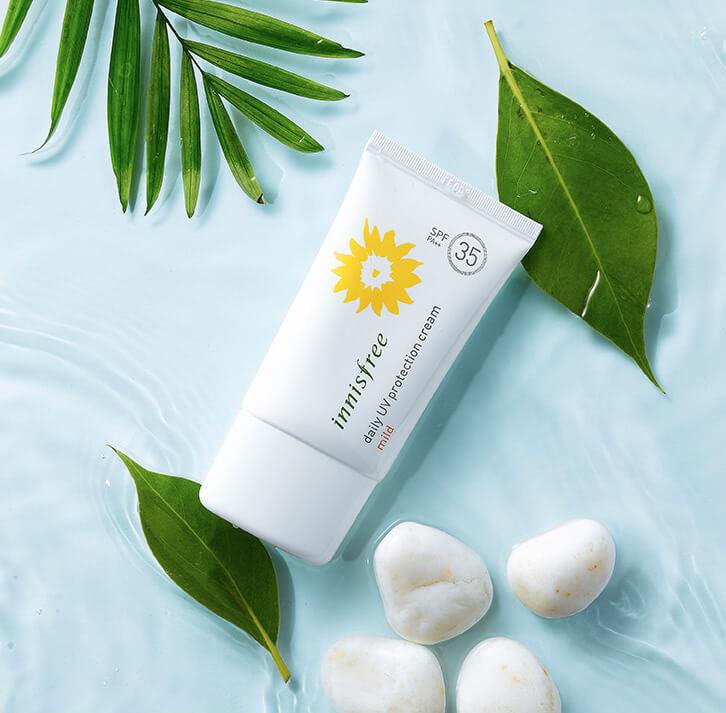 Kem chống nắng Hàn Quốc tốt nhất hiện nay Innisfree Daily UV Protection Cream Mild